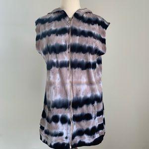 SOFT SURROUNDINGS Tie Dye Sweater Vest ZipUp Large
